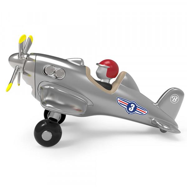 Baghera Spielzeug Flugzeug silber
