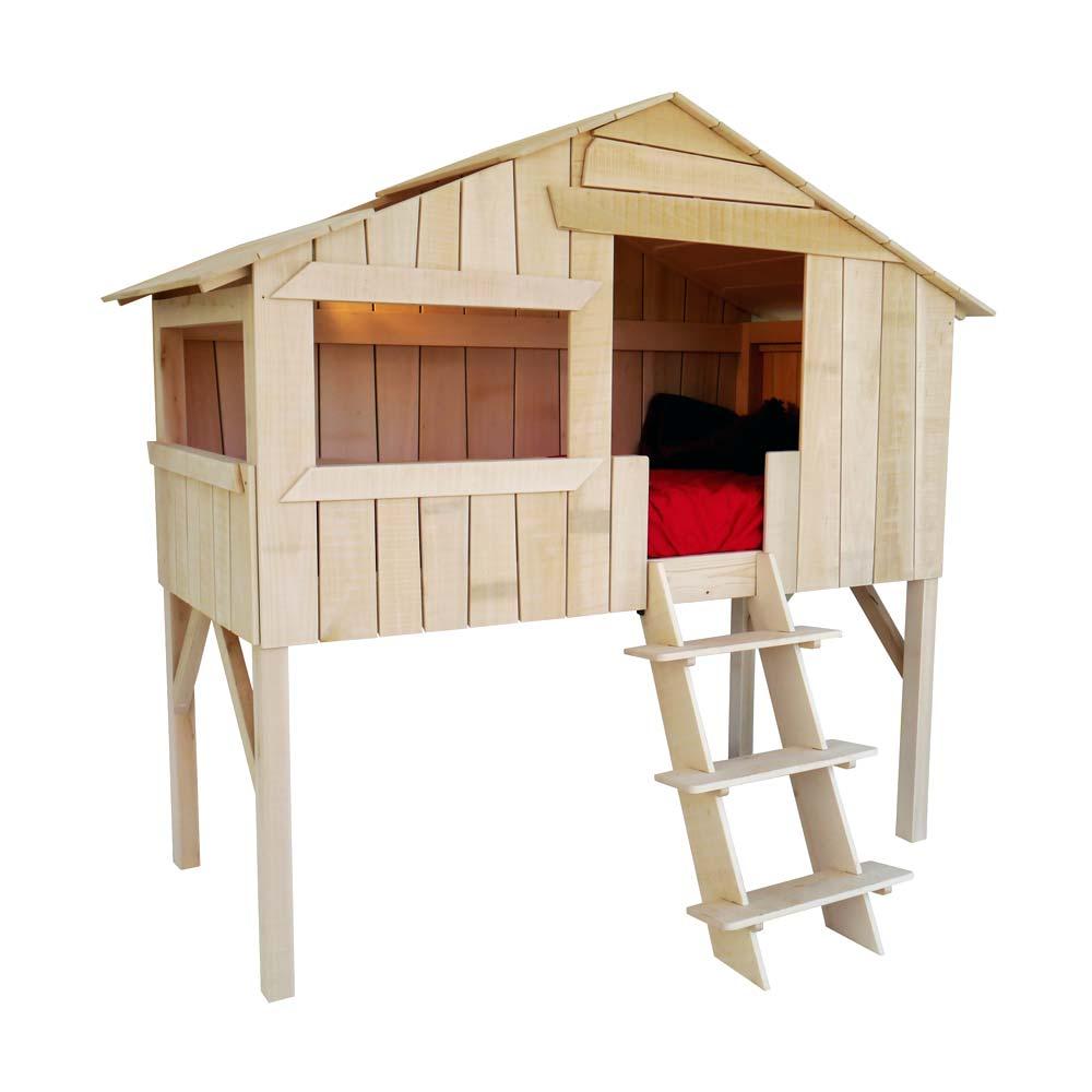 mathy by bols hochbett baumhaus h tte linde natur bei kinder r ume. Black Bedroom Furniture Sets. Home Design Ideas