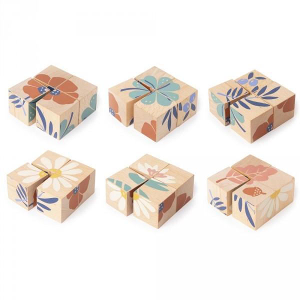 Nobodinoz Holzklötze / Puzzle Pflanzen