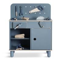 Werkbank Holz blau für Kinder von Flexa
