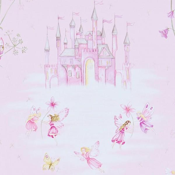 Little Sanderson Abracazoo Tapete Märchenschloss rosa