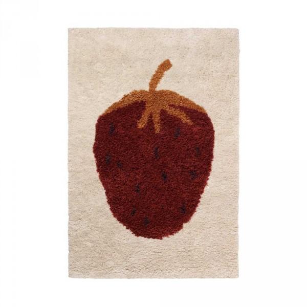 Ferm Living Wollteppich Fruiticana Erdbeere klein