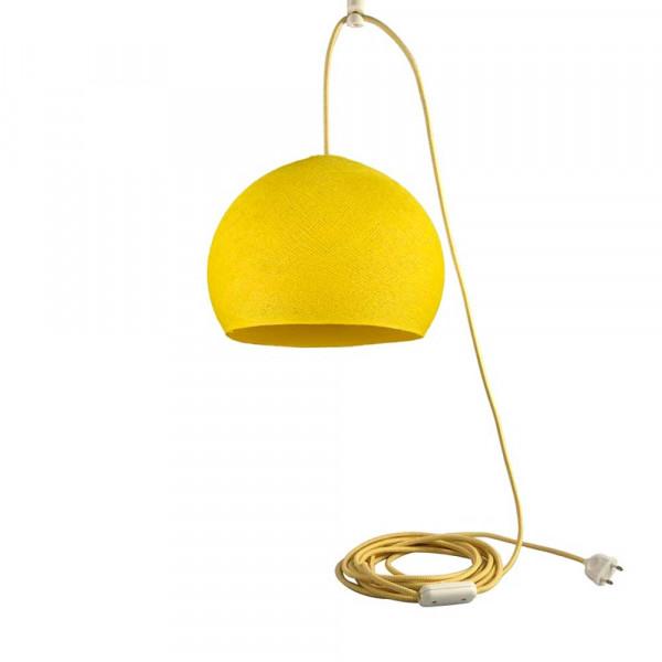 Cousin Paul Pendellampe Kuppel klein mit Stecker gelb
