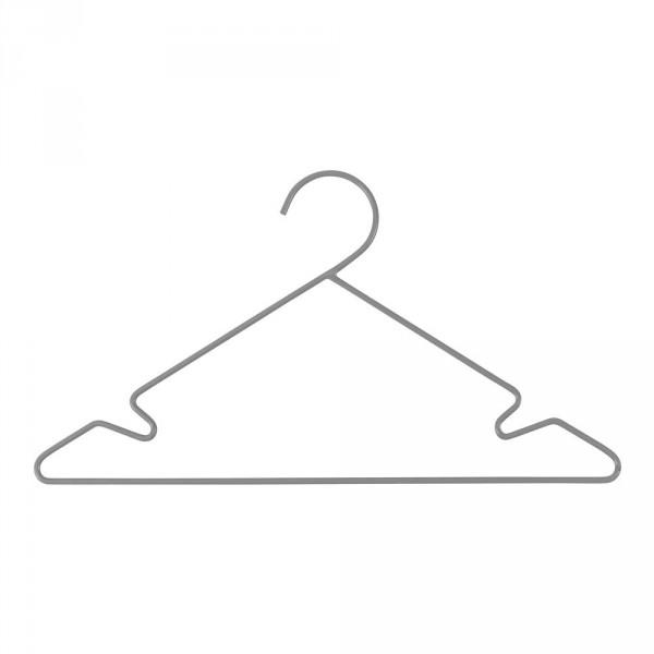 Sebra Kinder Kleiderbügel-Set Metall grau