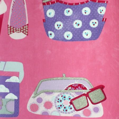 Harlequin Stoff Taschen pink
