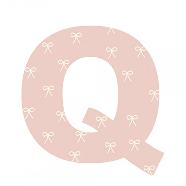 Lilipinso Sticker Buchstabe geblümt Q