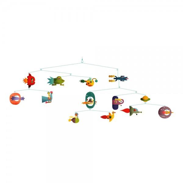 Djeco Kinder Mobile Raumschiffe