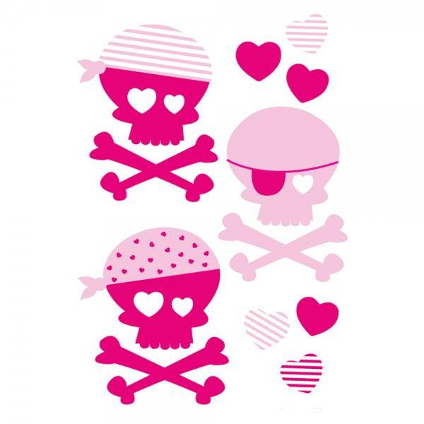 Forwalls Wandsticker Piraten pink