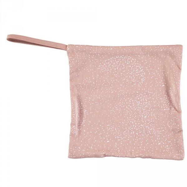 Nobodinoz Schnullerhalter Dodo weisse Blasen rosa