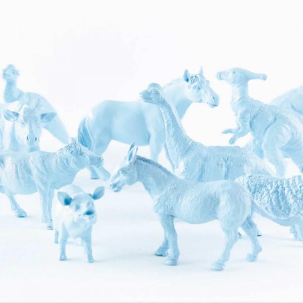 Eijffinger Tout Petit Tapeten Wandbild Tiere vom Bauernhof & Freunde blau