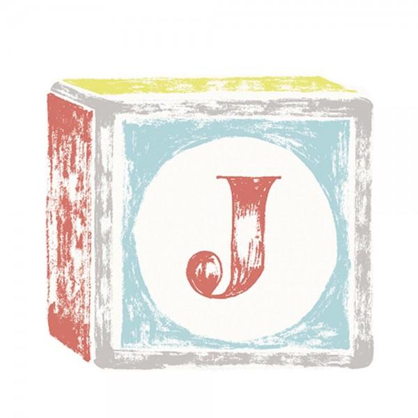Lilipinso Sticker Buchstabe auf Spielwürfel J