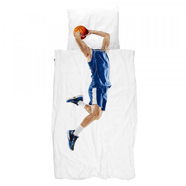 Snurk Bettwäsche Basketballer blau 135 x 200