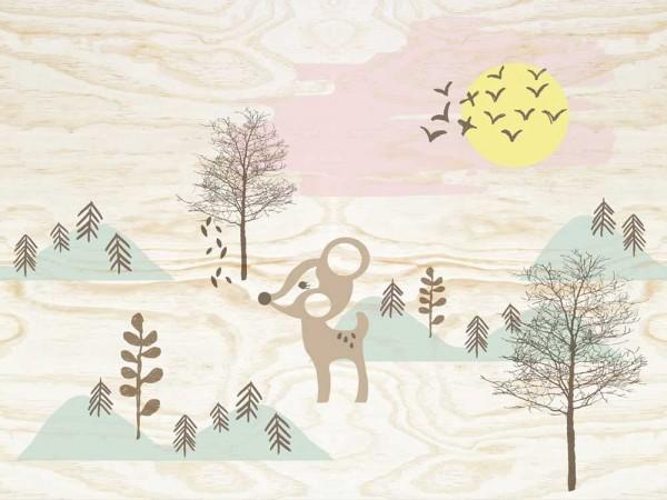 Eijffinger Tout Petit Tapeten Wandbild Reh im Wald