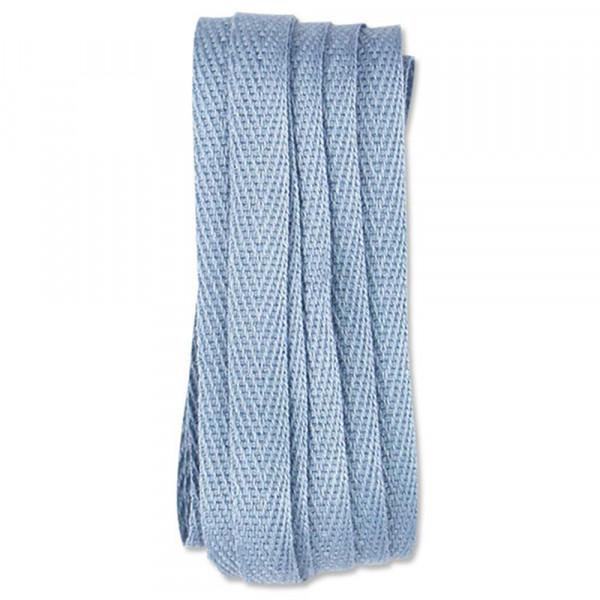 Ava & Yves Geschenkband Baumwolle puder blau