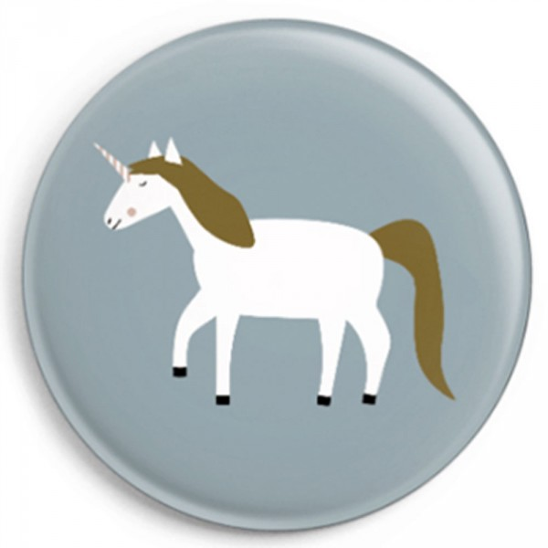 Ava & Yves Kinder Button / Anstecker Einhorn