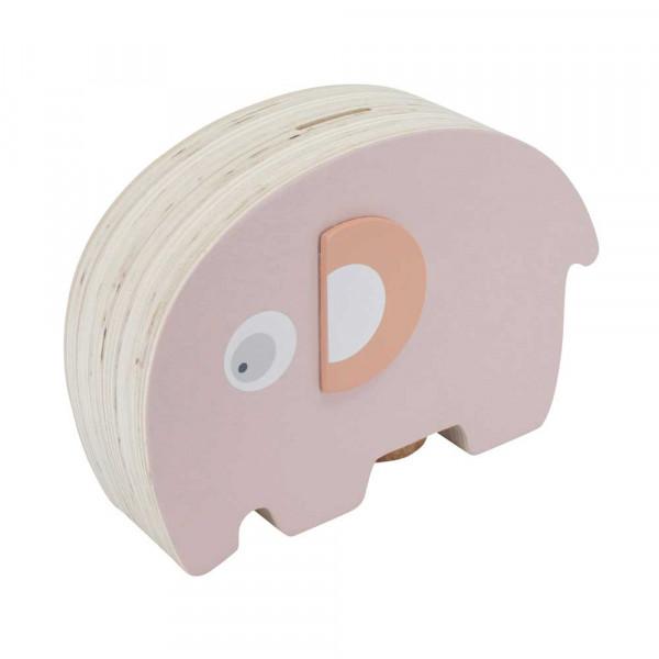 Sebra Kinder Spardose Elefant Holz rosa