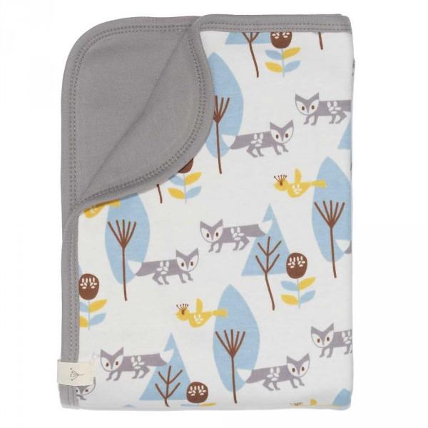 Fresk Babydecke Fuchs blau 80 x 100