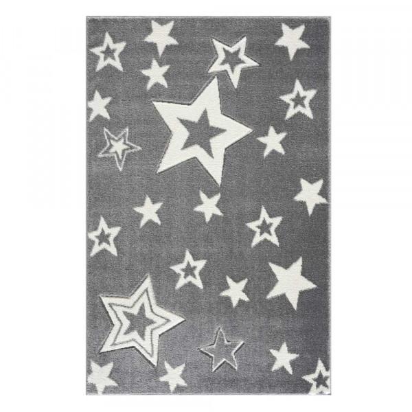 Livone Kinderteppich Galaxy Sterne grau