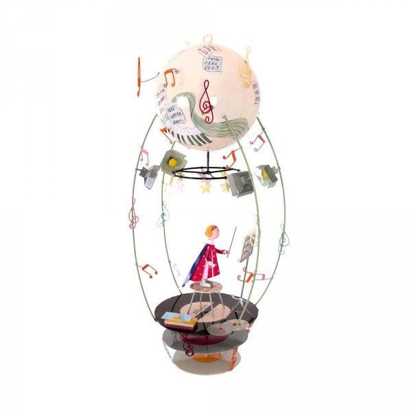 L' Oiseau Bateau Mobile Heissluftballon Schlumpeter Musikerin