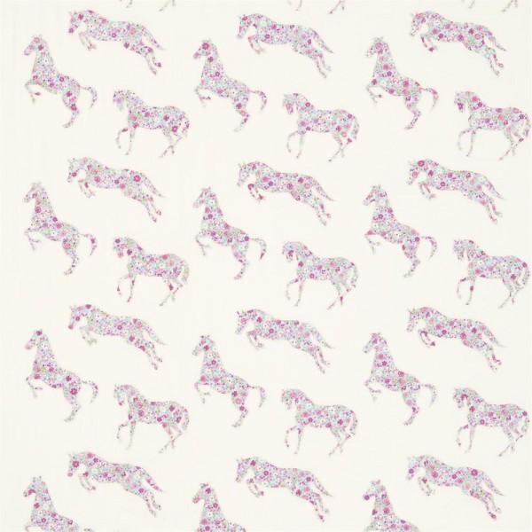 Little Sanderson Abracazoo Motivstoff appliziert Pferde creme hellblau