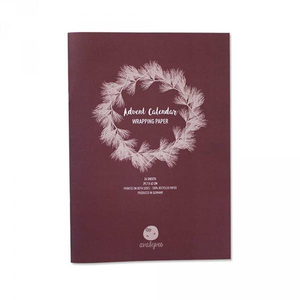Ava & Yves Geschenkpapier Adventskalender Xmas