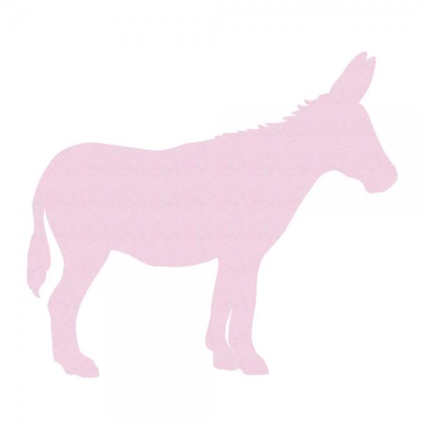 Inke Tapetentier Esel uni rosa