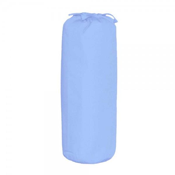 Taftan Spannbettlaken 70 x 140 cm uni hellblau