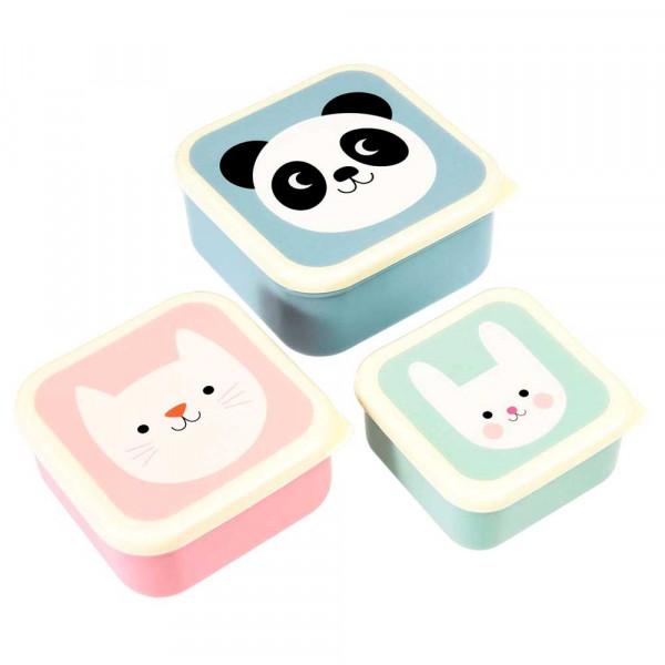 Rex London Snack Box-Set Panda, Hase & Katze