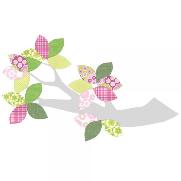 Inke Tapetenast silber grün/rosa