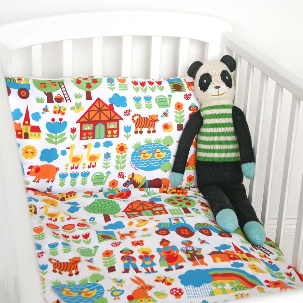 graziela kinderbettw sche bauernhof 100 x 135 bei kinder r ume. Black Bedroom Furniture Sets. Home Design Ideas