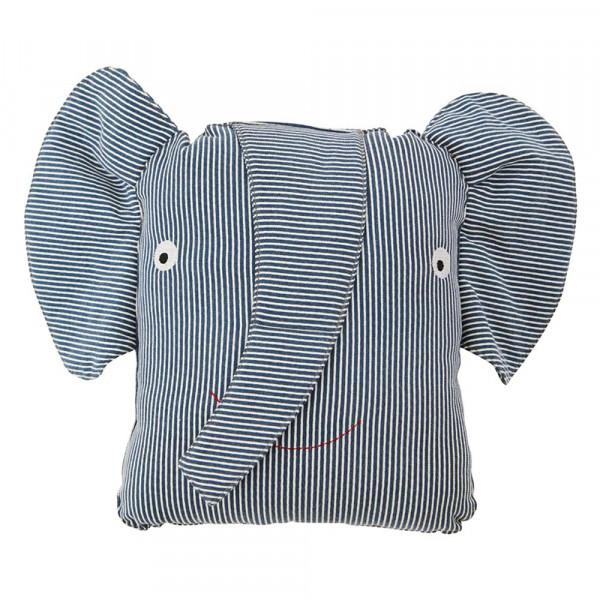 OYOY Deko Kissen Elefant Erik Denim blau