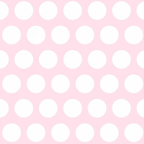 Rasch Textil Everybody Bonjour Tapete grosse Punkte rosa