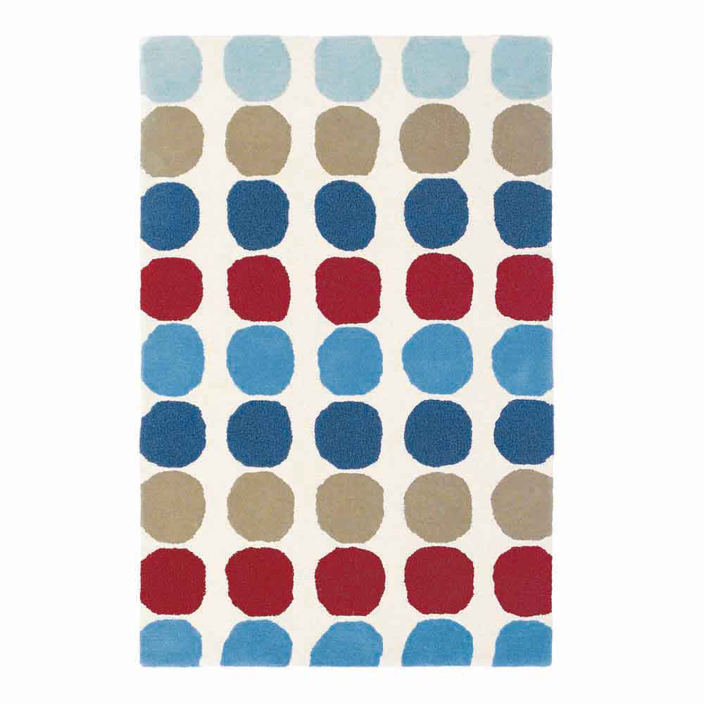 Harlequin Teppich Wolle Abacus Blau Bei Kinder Raume