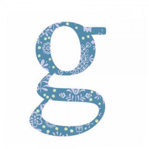 Lilipinso Sticker blau Buchstabe g