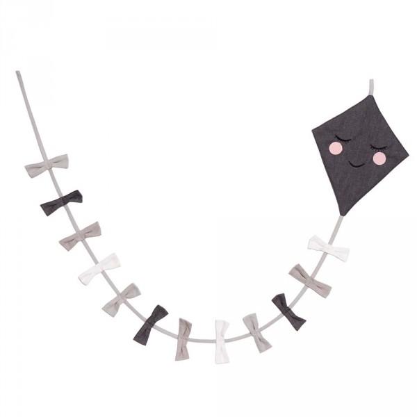 Roommate Wimpelkette Drache schwarz grau weiss