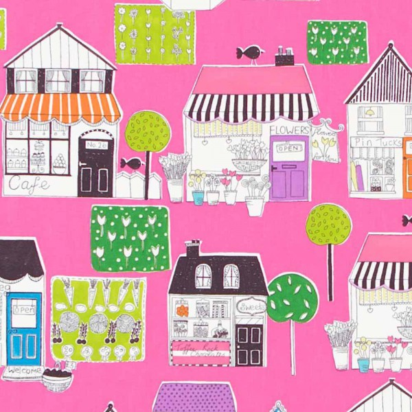 Harlequin all about me Stoff Dorf pink