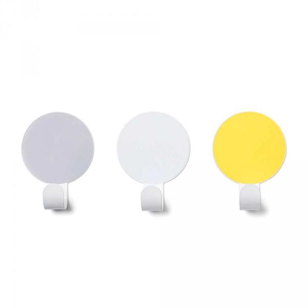 tresxics Garderobenhaken Punkte grau gelb
