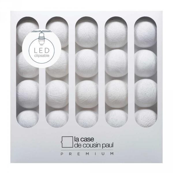Lampion Lichterkette weiß