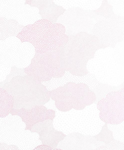 Casadeco Arc En Ciel Tapete Wolken getupft rosa glänzend