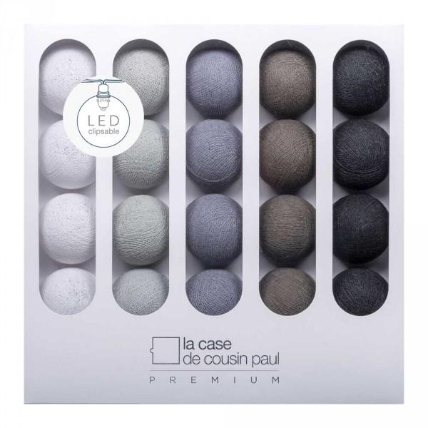 Cousin Paul Lichterkette Amy Premium LED weiss grau anthrazit