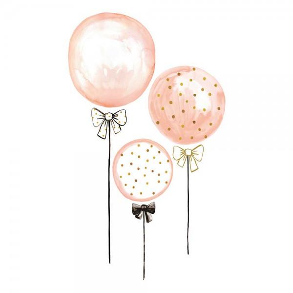 Lilipinso Wandsticker XL drei Luftballons koralle