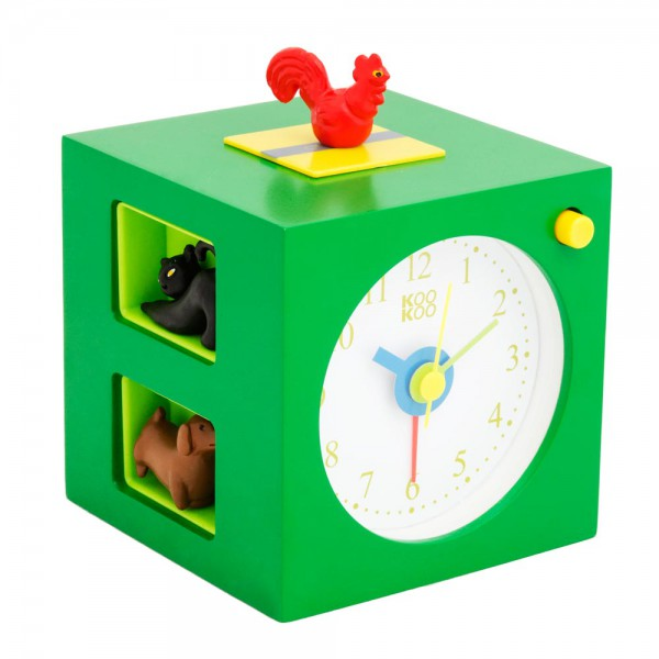 Kookoo Kinderwecker Kids Alarm Tiere grün