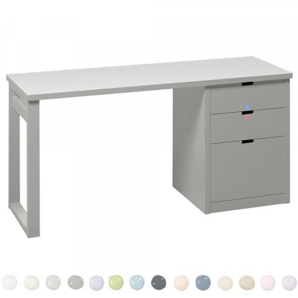 Muba Bespoke Schreibtisch mit Schukästen 63 cm tief
