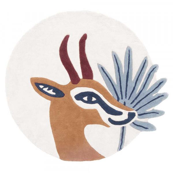 Lilipinso Teppich Gazelle creme braun 100 cm
