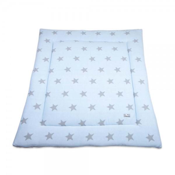 Baby's Only Laufgitter Einlage / Krabbeldecke gestrickt Sterne hellblau