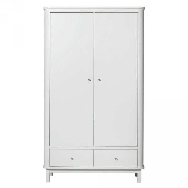 Oliver Furniture Wood Kleiderschrank 2 türig weiss