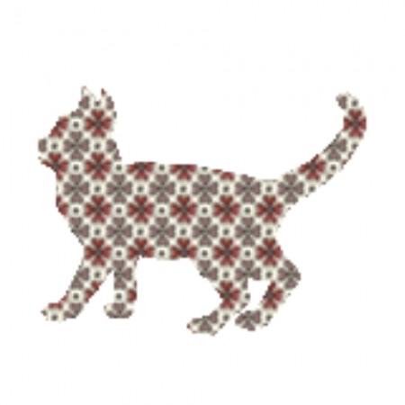 Inke Tapetentier Katze Raster braun