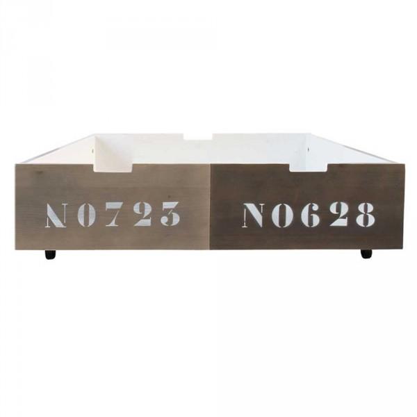 Bopita Basic Wood Bettschublade 100 cm zweifarbig braun