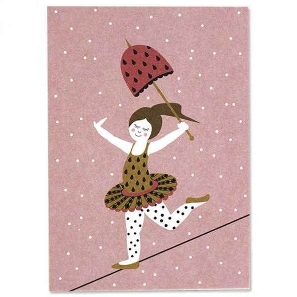 Ava & Yves Postkarte Zirkus Tänzerin