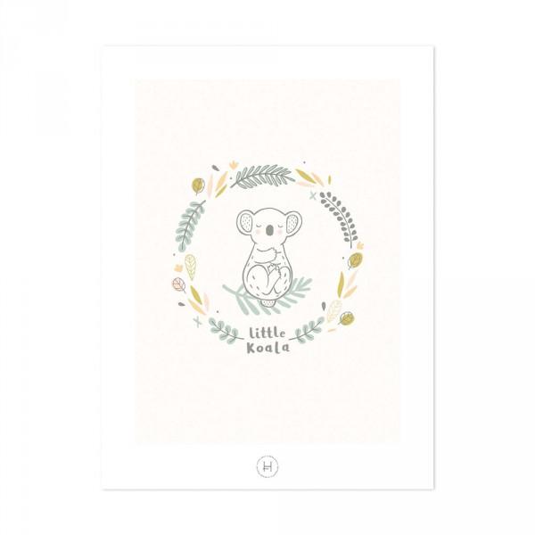 Lilipinso Poster Kleiner Koala creme grün grau